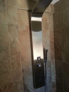 Instalación de columna de ducha.