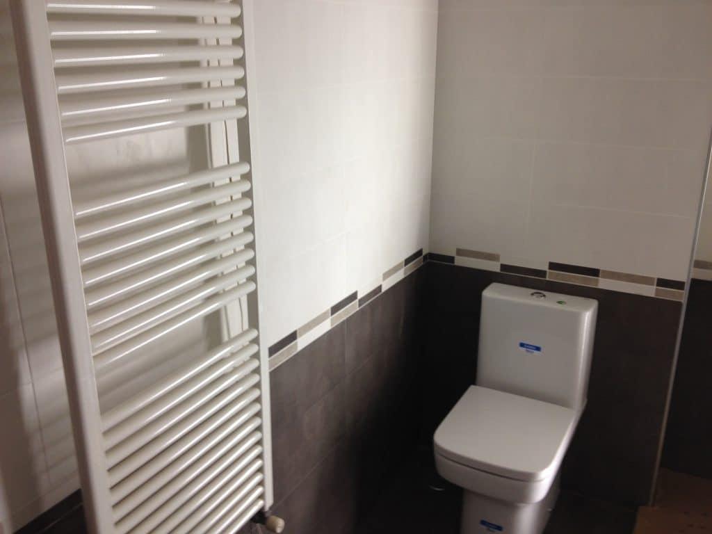 radiador toallero e inodoro roca
