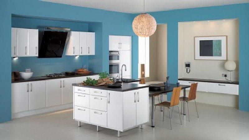 Cocina en azul en Collado Mediano