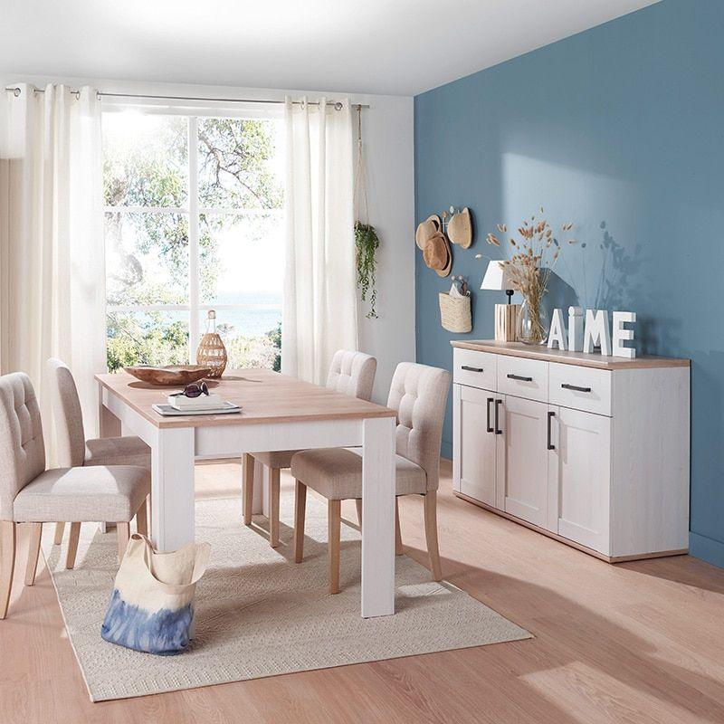 Comedor con pintura azul en Collado Mediano