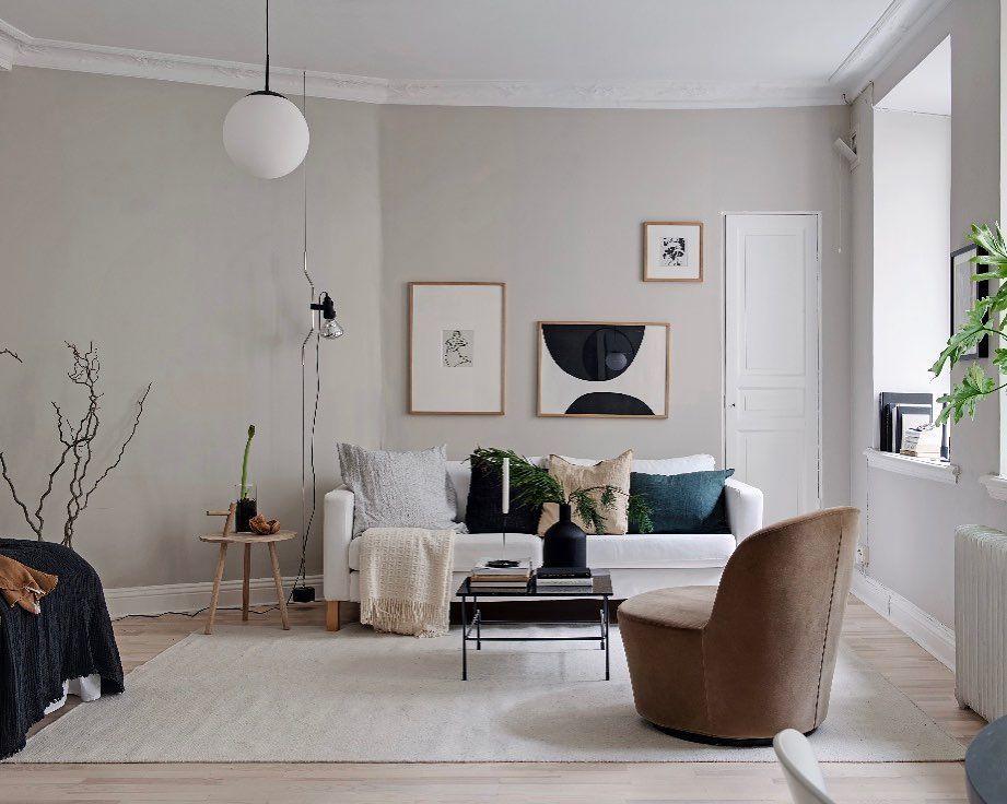 Pared beig salón Alcobendas. Consejos para pintar su hogar.