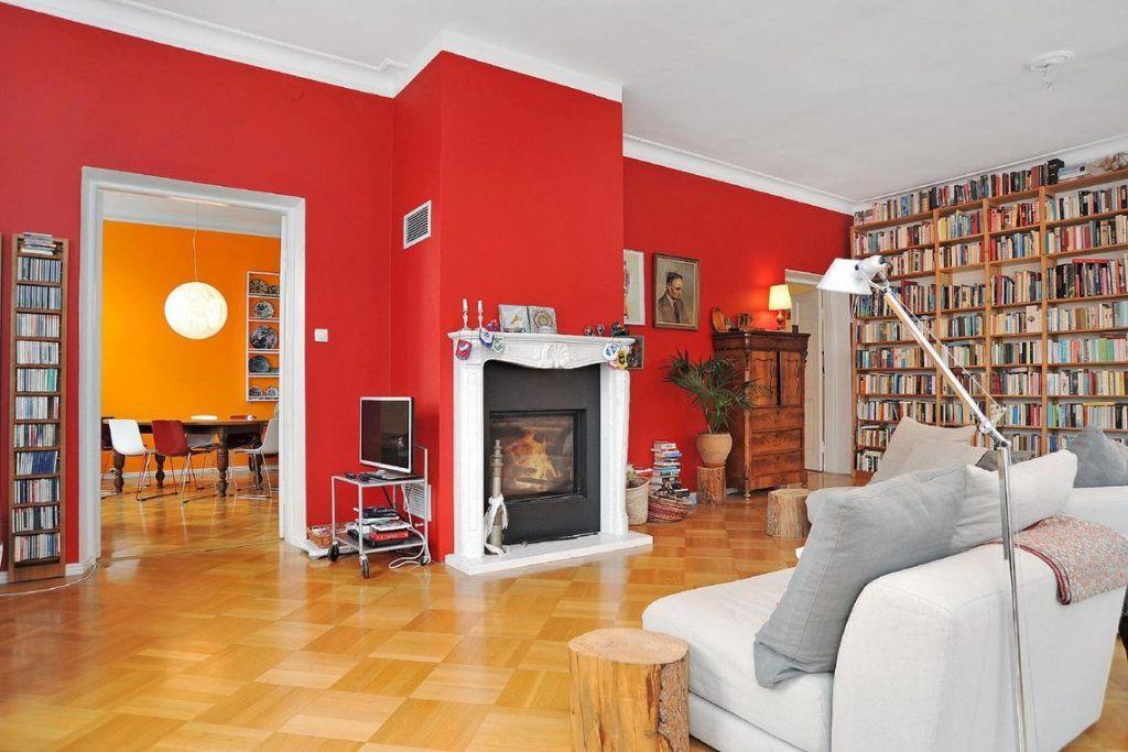 PINTORES EN COLMENAR VIEJO. Salón pintado en rojo en Colmenar Viejo