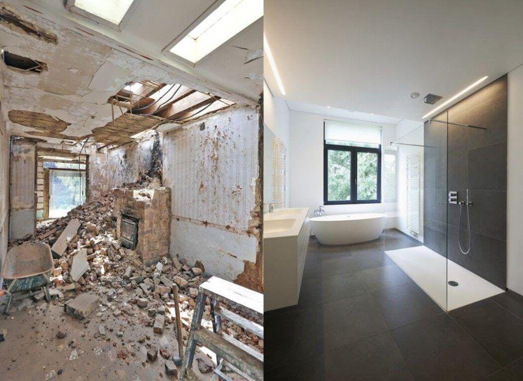 antes y después de una reforma de casa en ajalvir