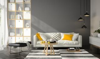 Pintura gris en salon en Galapagar 1