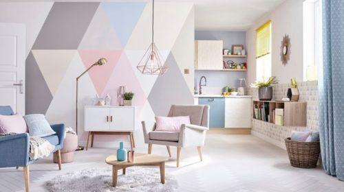 piso pintado en colores pastel