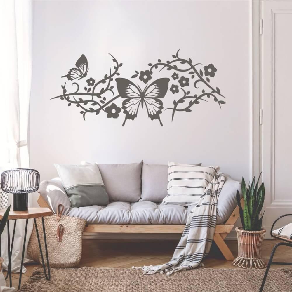 Salon gris pintado en Manzanares el Real